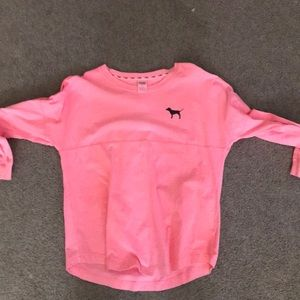 Large pink crew neck